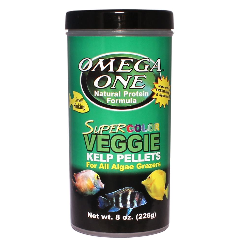 Omega One Super Color Kelp Sm Sinking Pellets Fish Food 8-oz