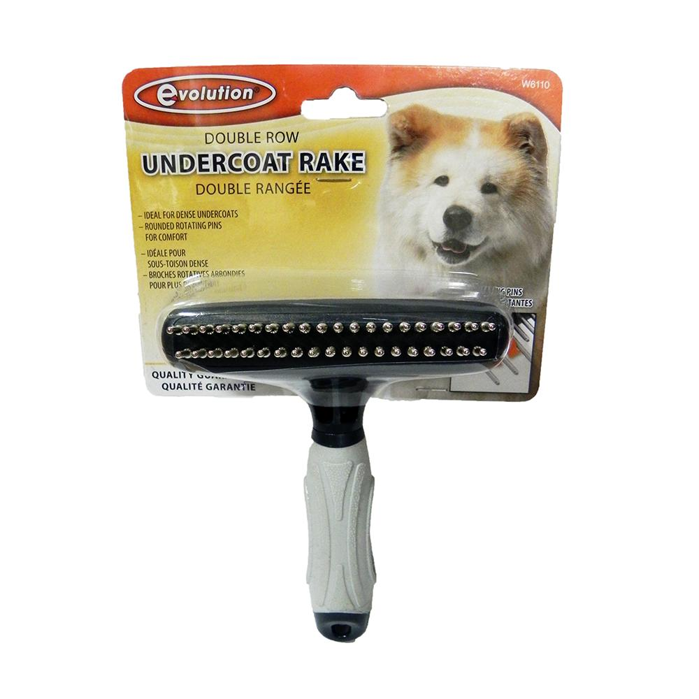 Evolution Double Row Rotating Pin Pet Grooming Rake