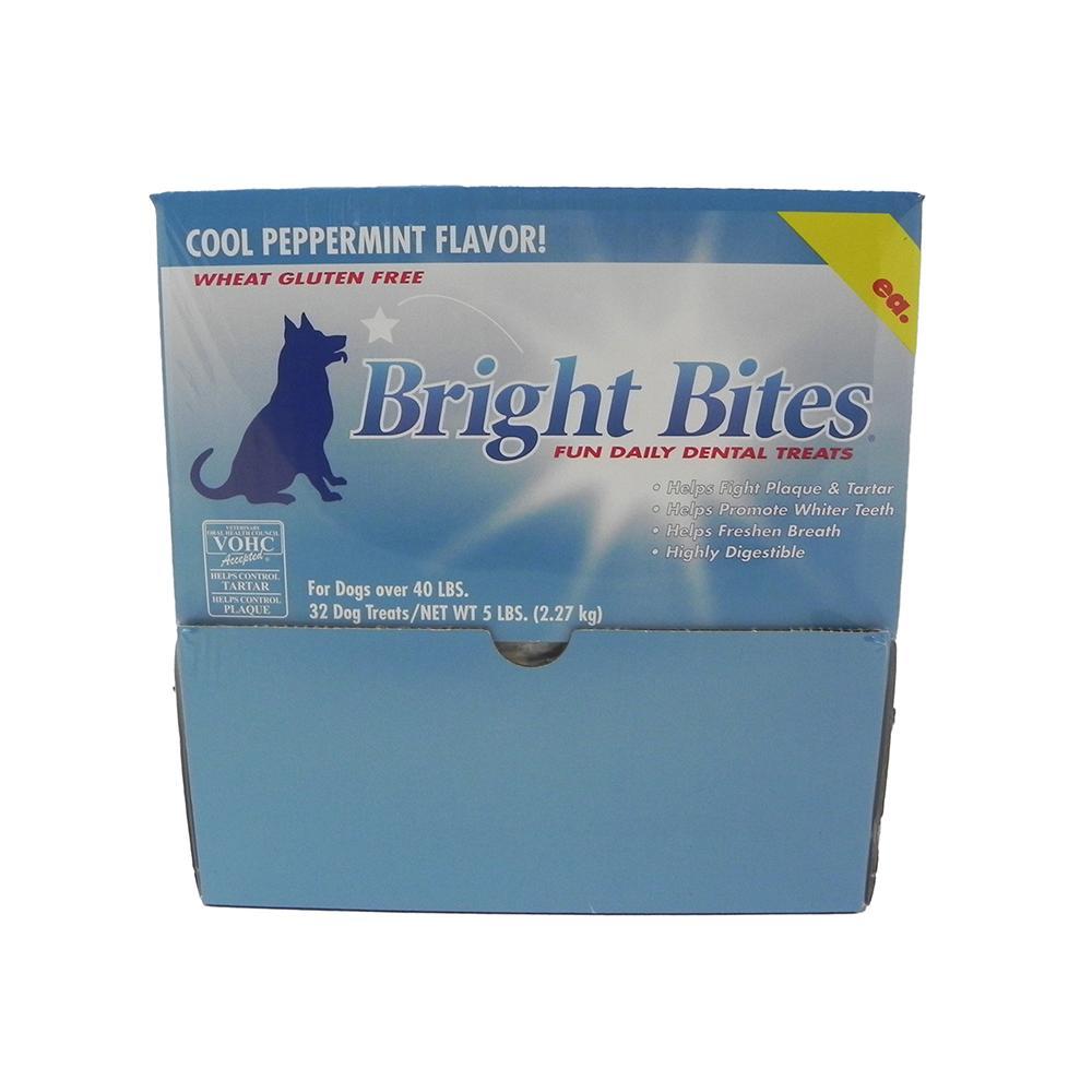 Bright Bites Peppermint Large Case Dog Dental Treat