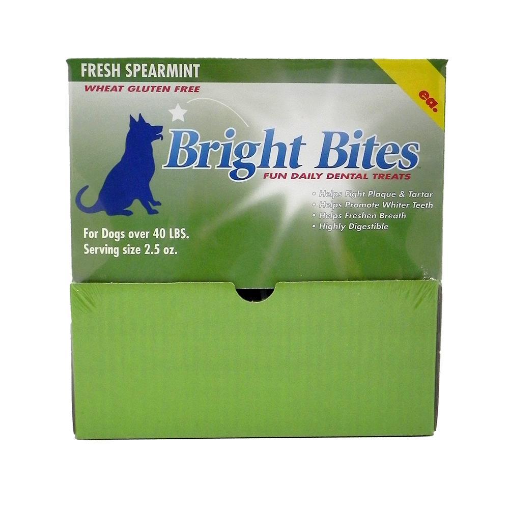Bright Bites Spearmint Large Case Dog Dental Treat