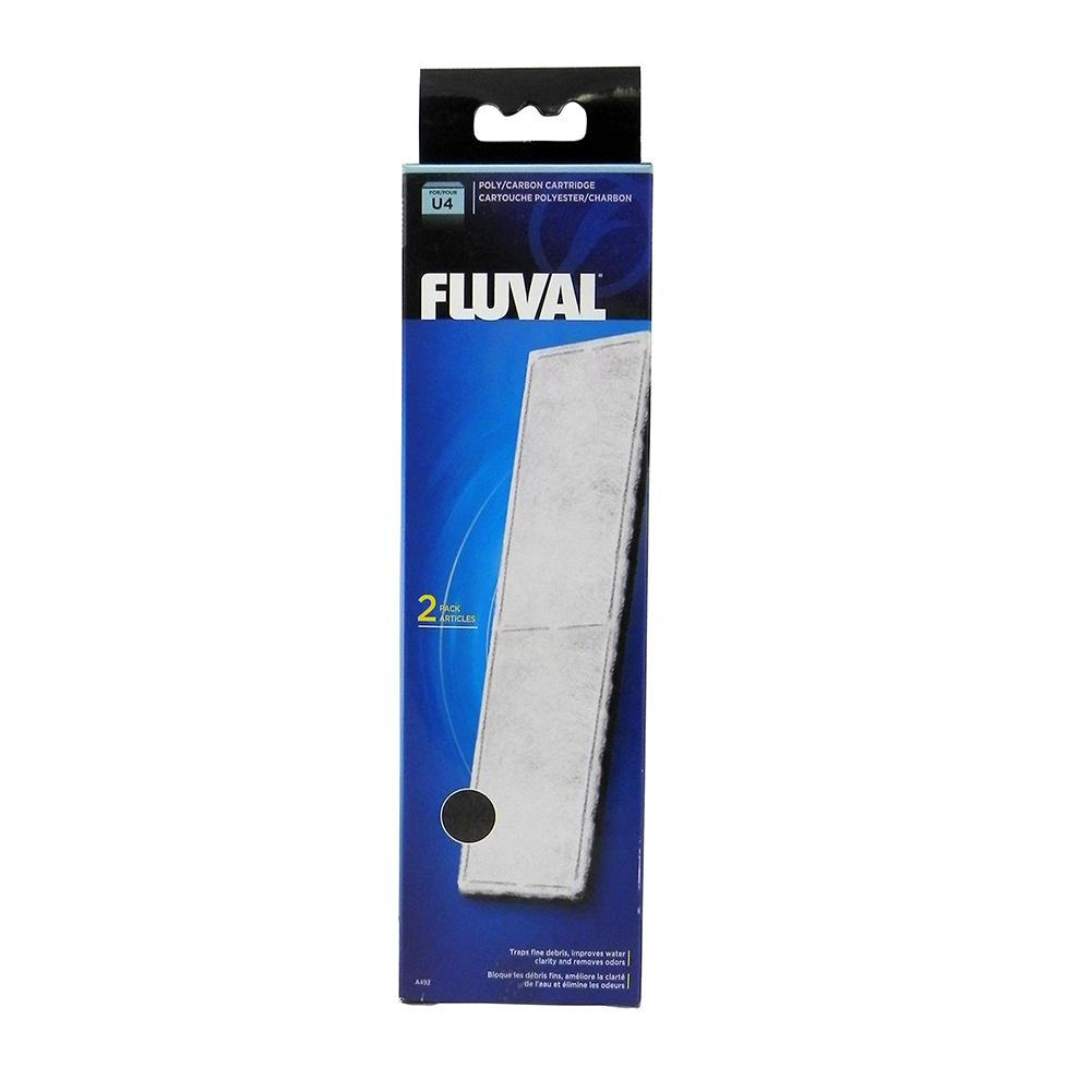 Fluval U4 Filter Stage 2 Poly/Carbon Cartridge 2 pack