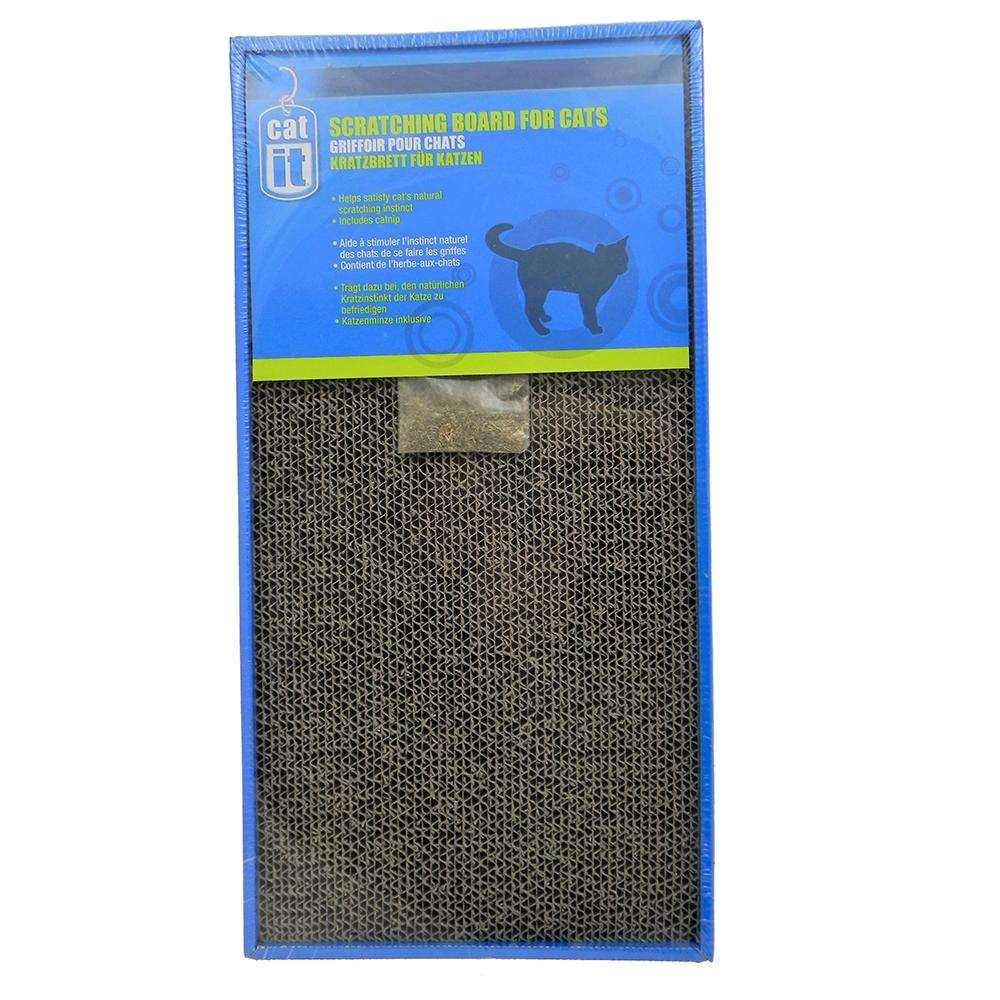 CatIt Cardboard Cat Scratcher Double Wide with Catnip