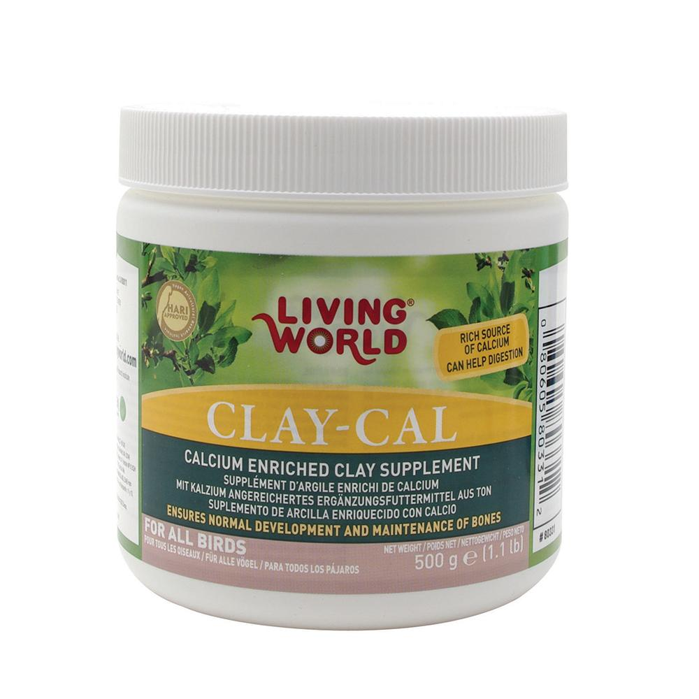 Living World Clay-Cal Clay Mineral Supplement for Birds 17oz