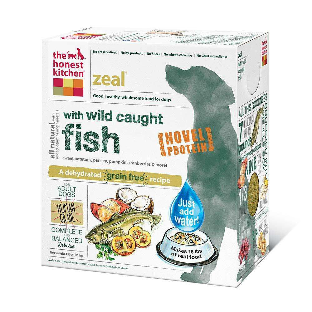 Honest Kitchen Zeal Dehydrated RAW Dog Food 4 lb