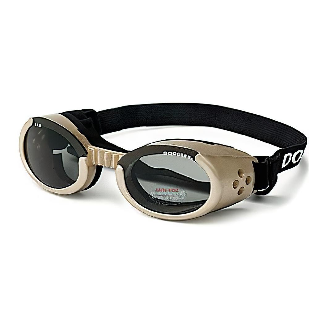 Doggles Eyeware for Dogs Chrome Frame / Smoke Lens Medium