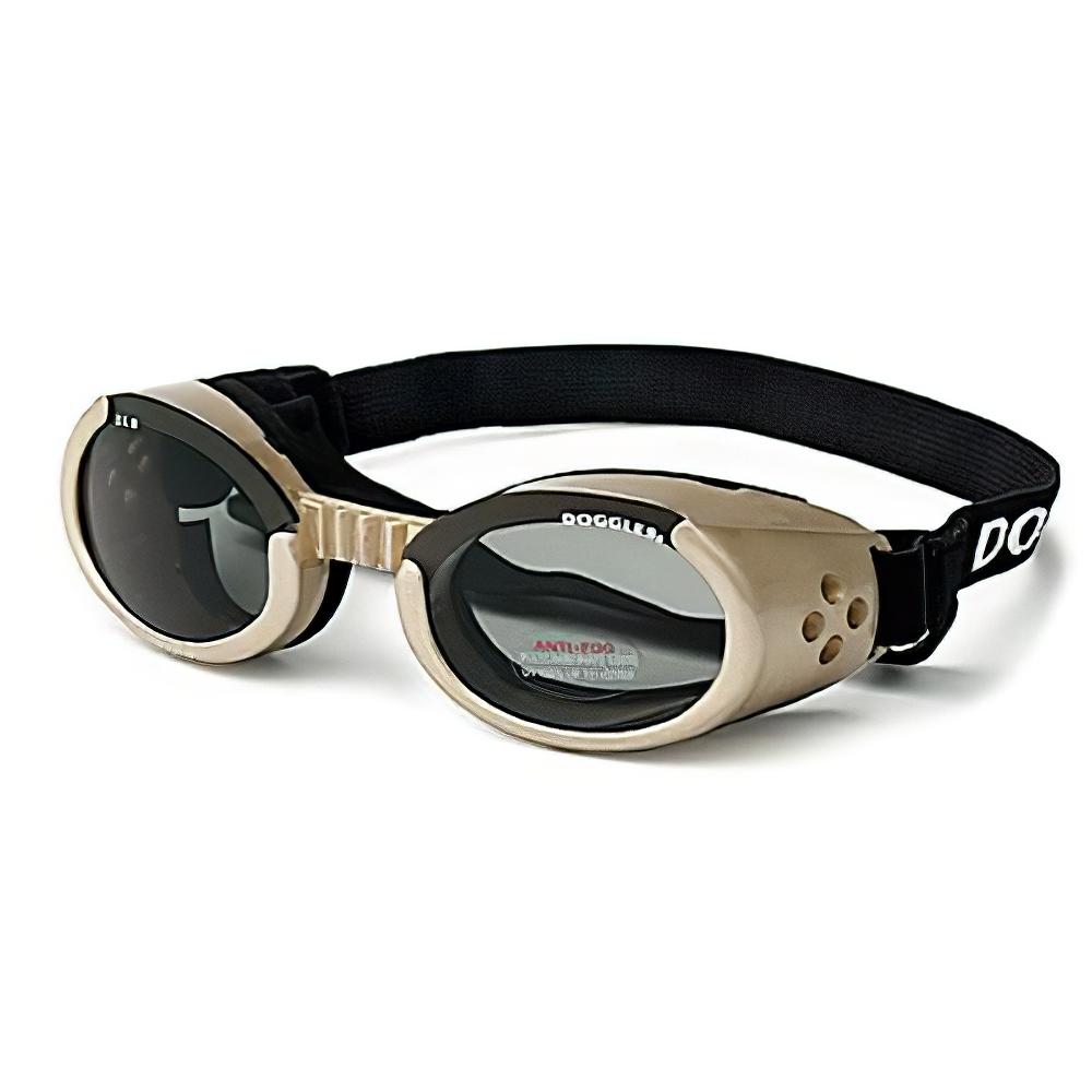 Doggles Eyeware for Dogs Chrome Frame / Smoke Lens Large