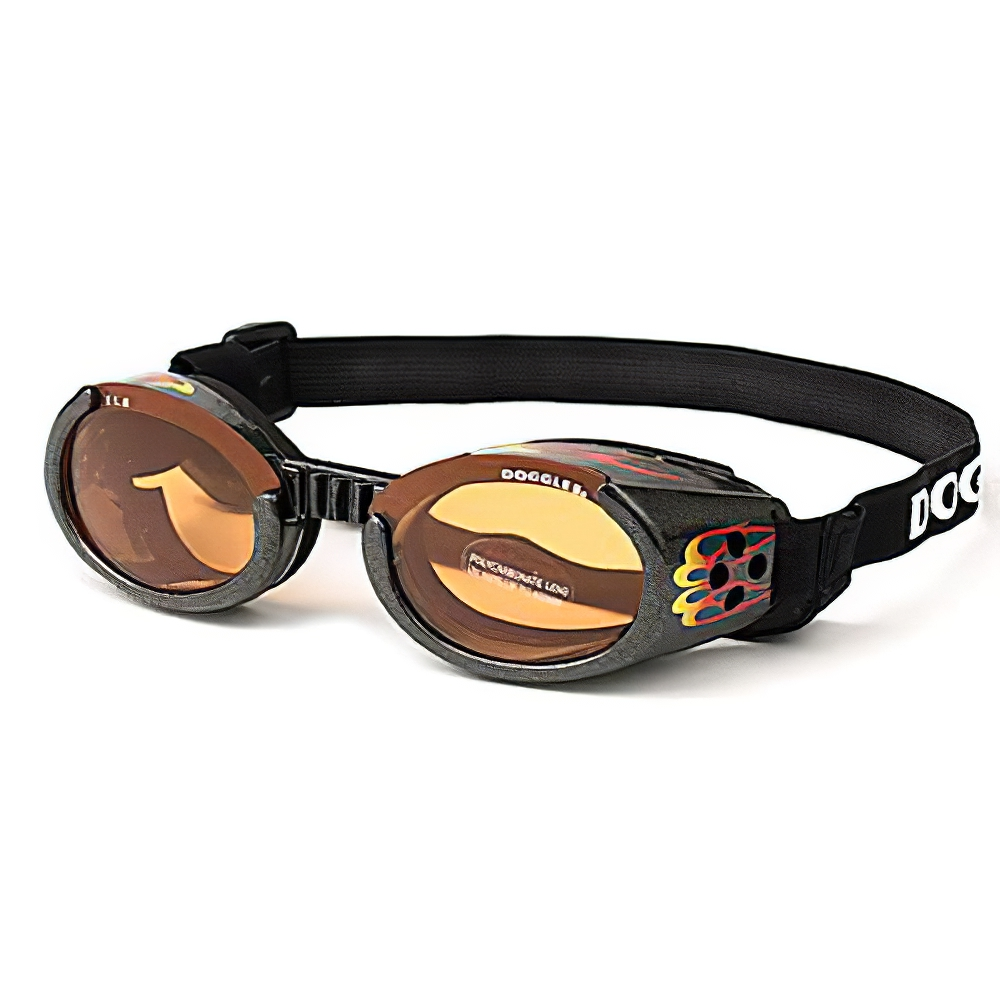 Doggles Eyeware for Dogs Flames Frame / Orange Lens XSmall