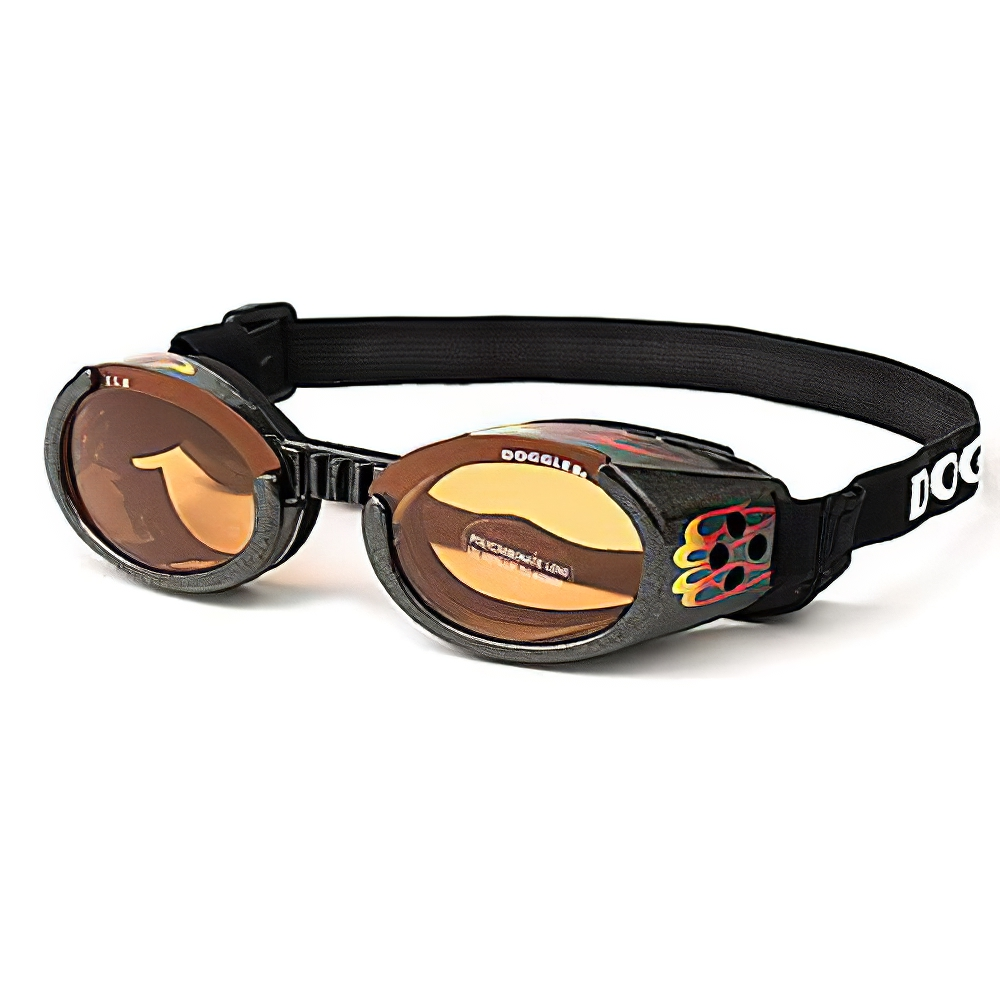 Doggles Eyeware for Dogs Flames Frame / Orange Lens Large