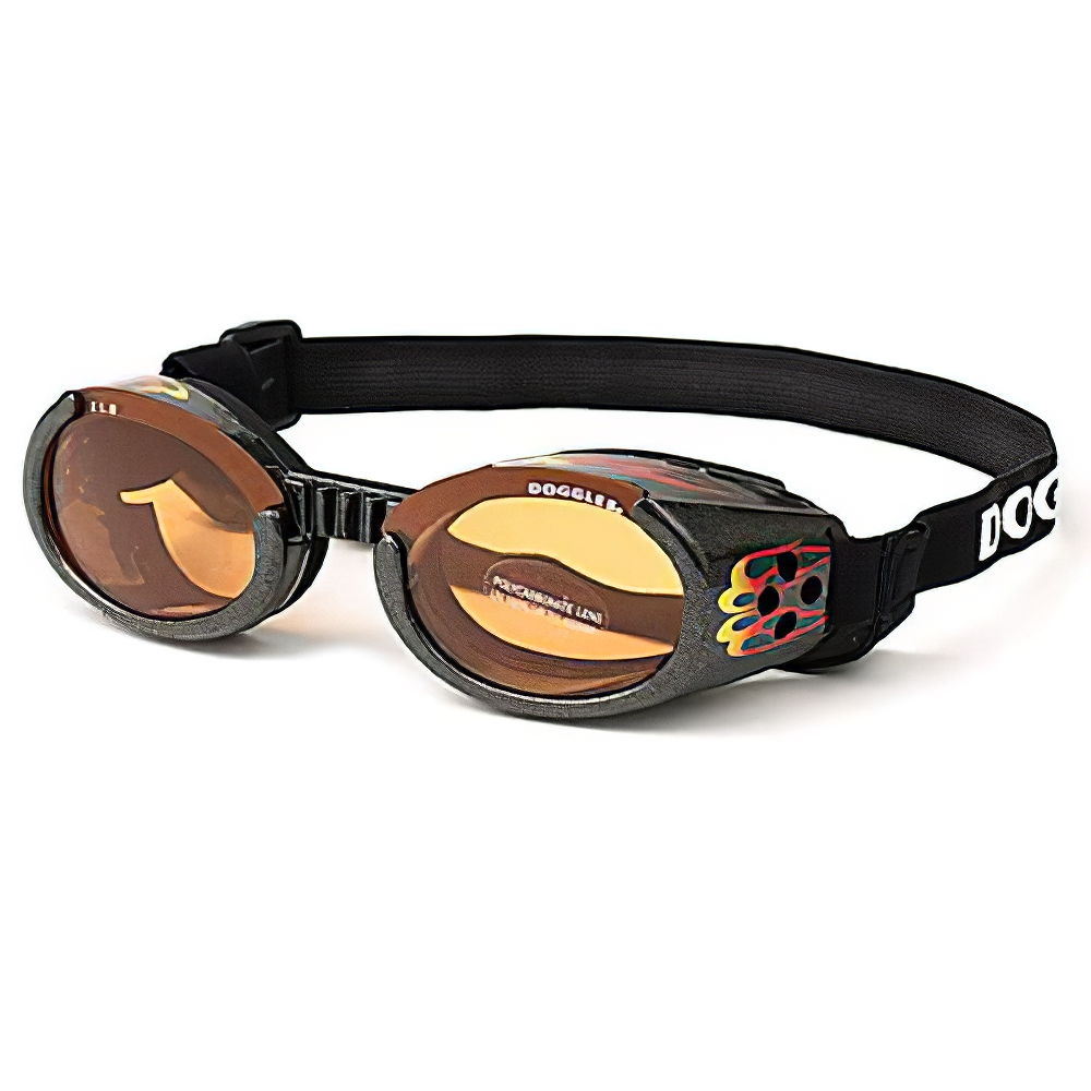 Doggles Eyeware for Dogs Flames Frame / Orange Lens Xlarge