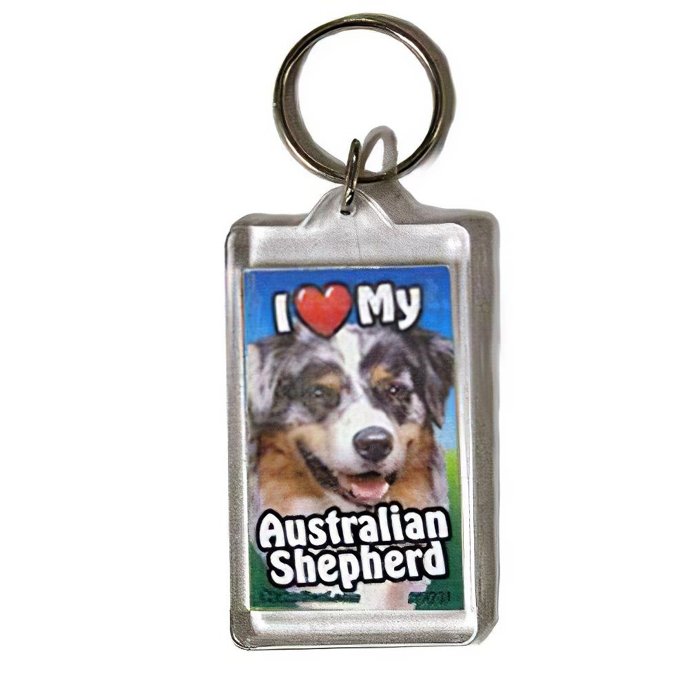 Plastic Keyring Australian Shepherd