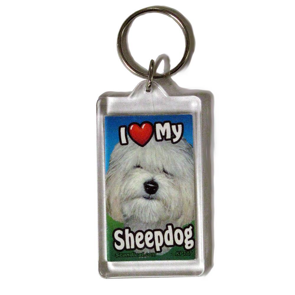 Plastic Keyring Sheepdog