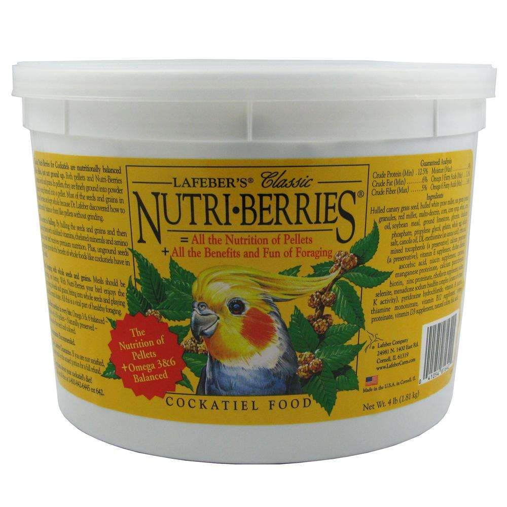 Lafeber NutriBerries Cockatiel 4 pound Food