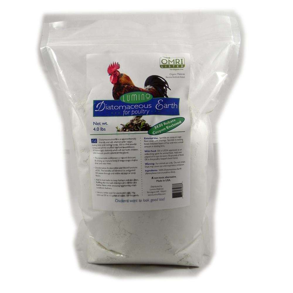 Lumino Organic Diatomaceous Earth For Poultry 4 Pound