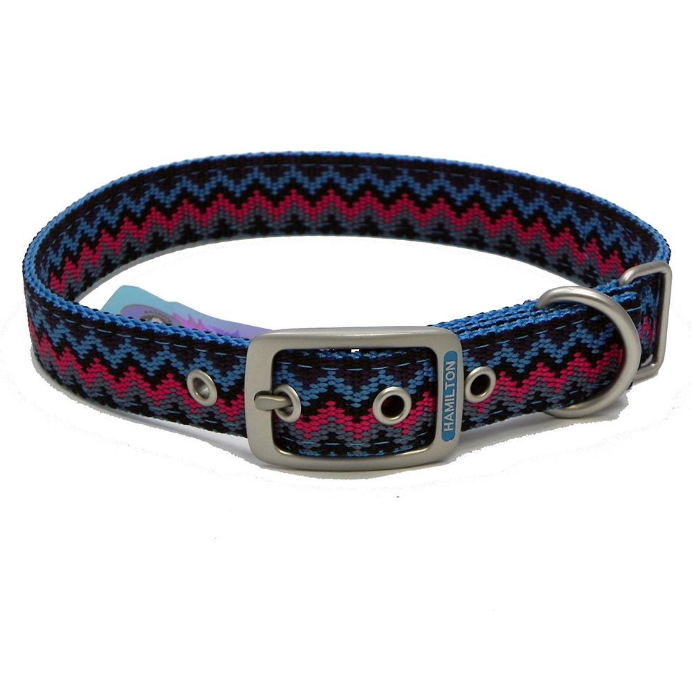 Hamilton Nylon Dog Collar Ocean Weave 1 x 20-inch