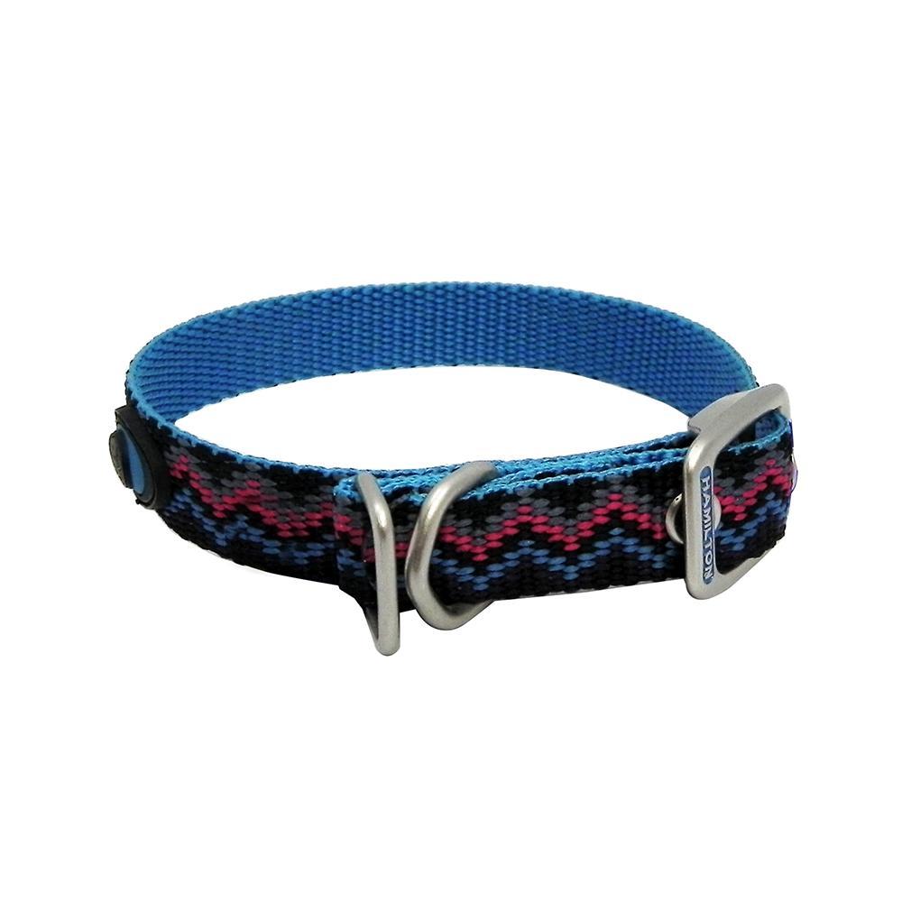 Hamilton Nylon Dog Collar Ocean Weave 5/8 x 14-inch