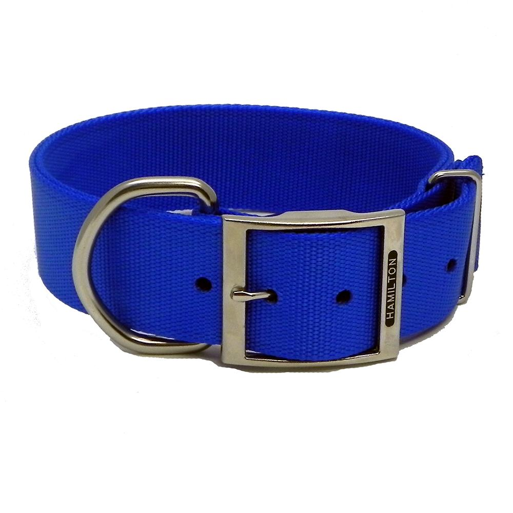 Hamilton Nylon Blue Dog Collar 1-3/4  x 26-inch