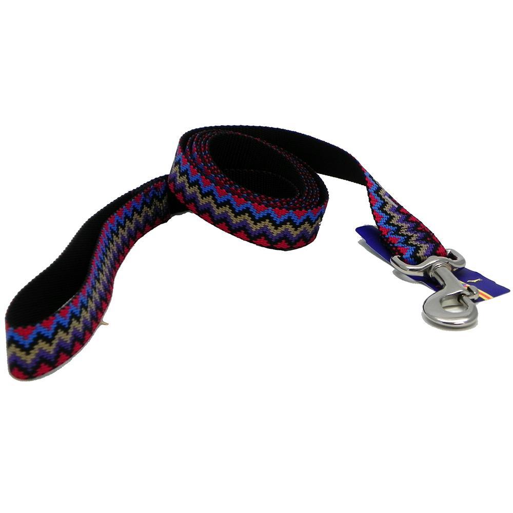 Hamilton Nylon Black Weave Dog Leash 1-inch x 6-ft
