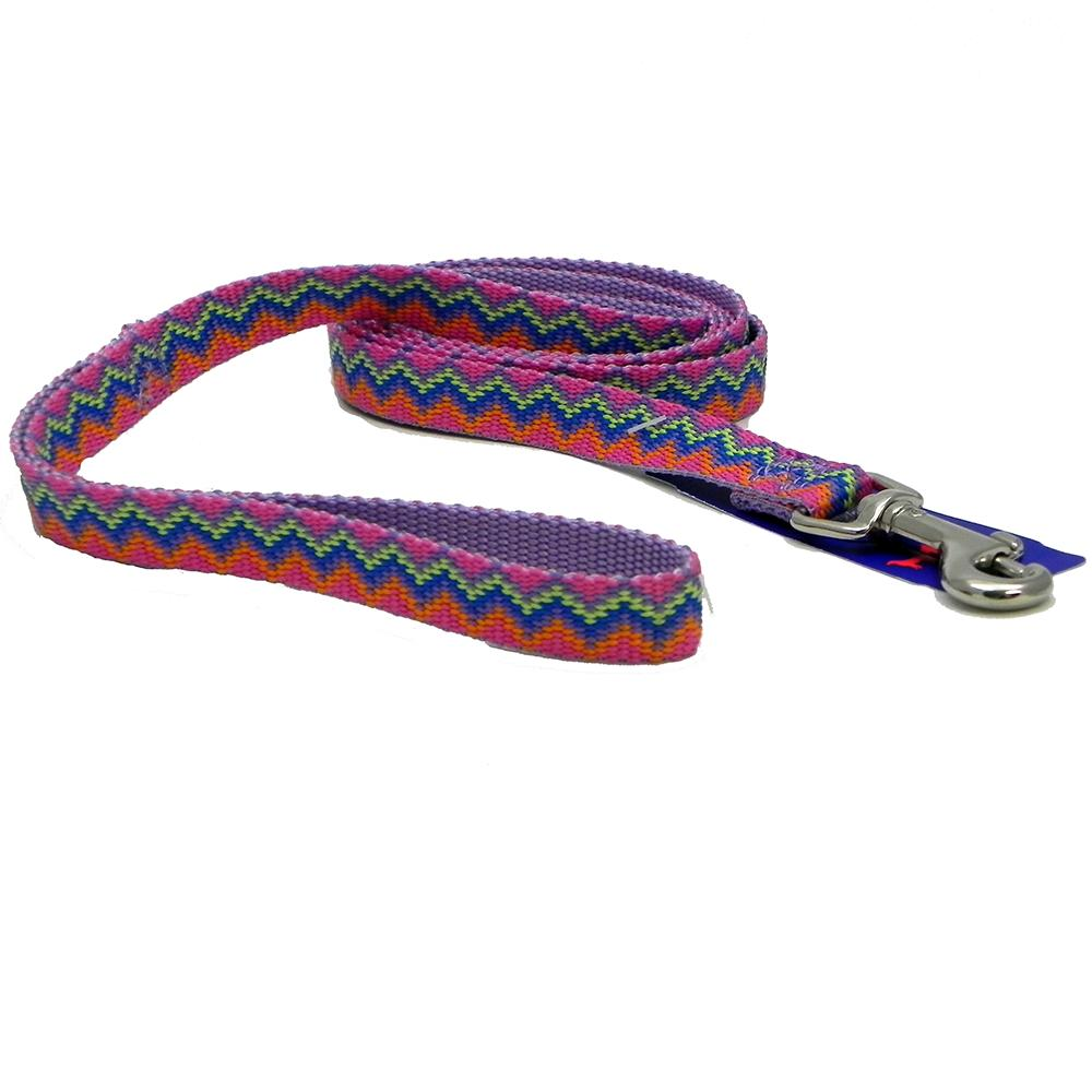 Hamilton Nylon Lavender Weave Dog Leash 5/8-inch x 4-ft
