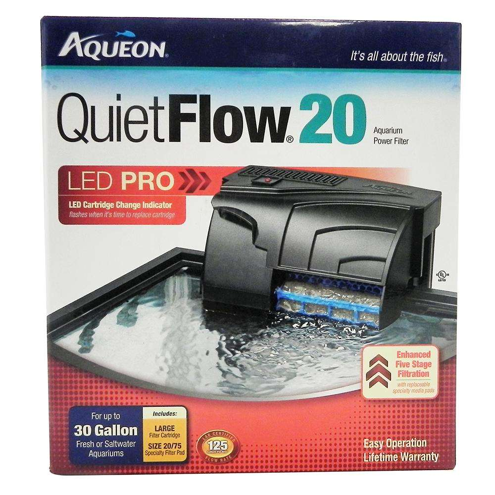 Aqueon Quiet Flow LED PRO 20 Aquarium Power Filter