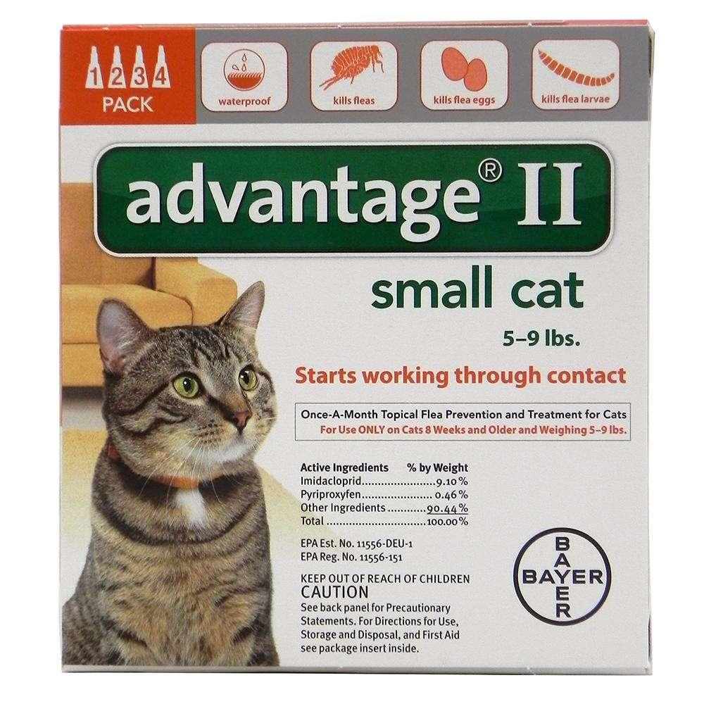Bayer Advantage II Cat 5-9 pound 4-pack  Flea Control