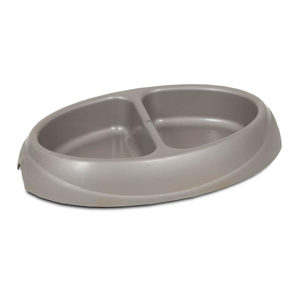 Ultra Lightweight Double Diner Small Pet Food Dish