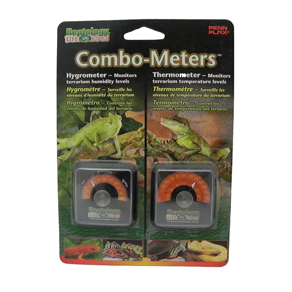 Reptology Analog Terrarium Thermometer and Hygrometer 2-pack