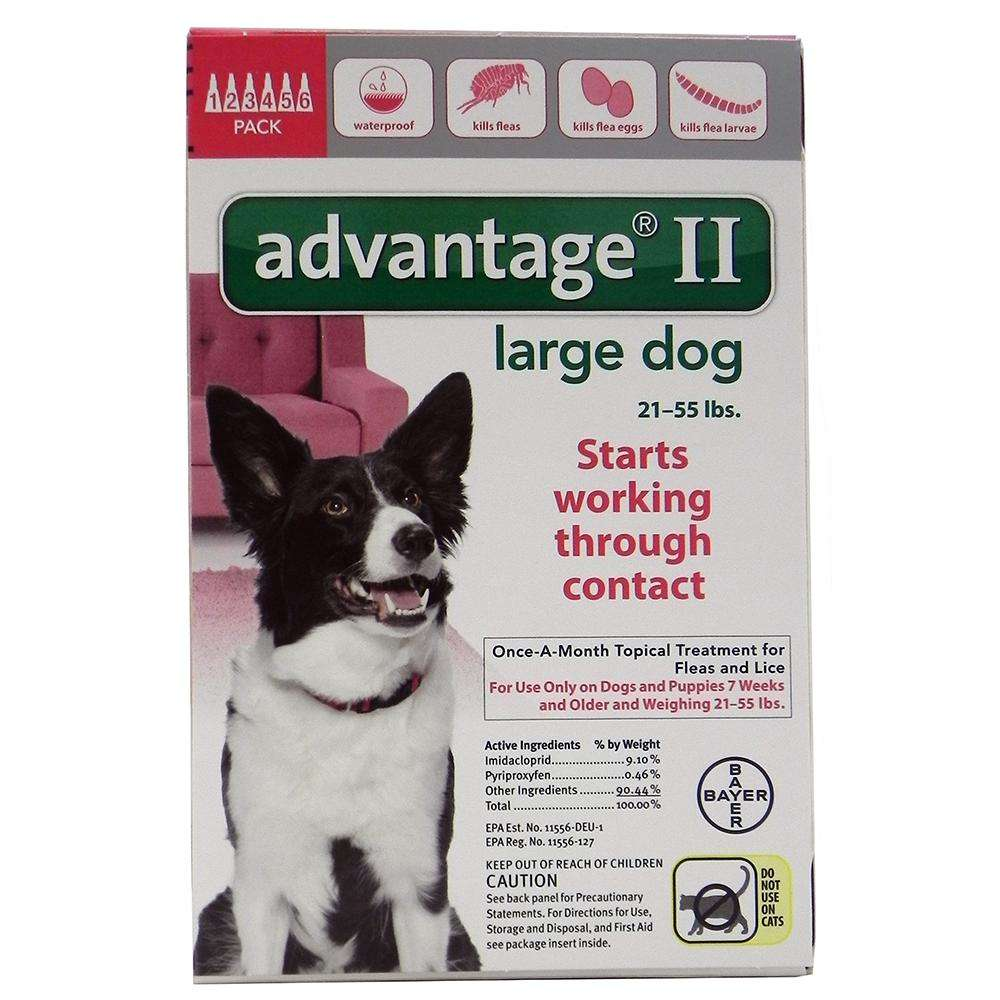 Bayer Advantage II Dog 21-55 lb 6 pack