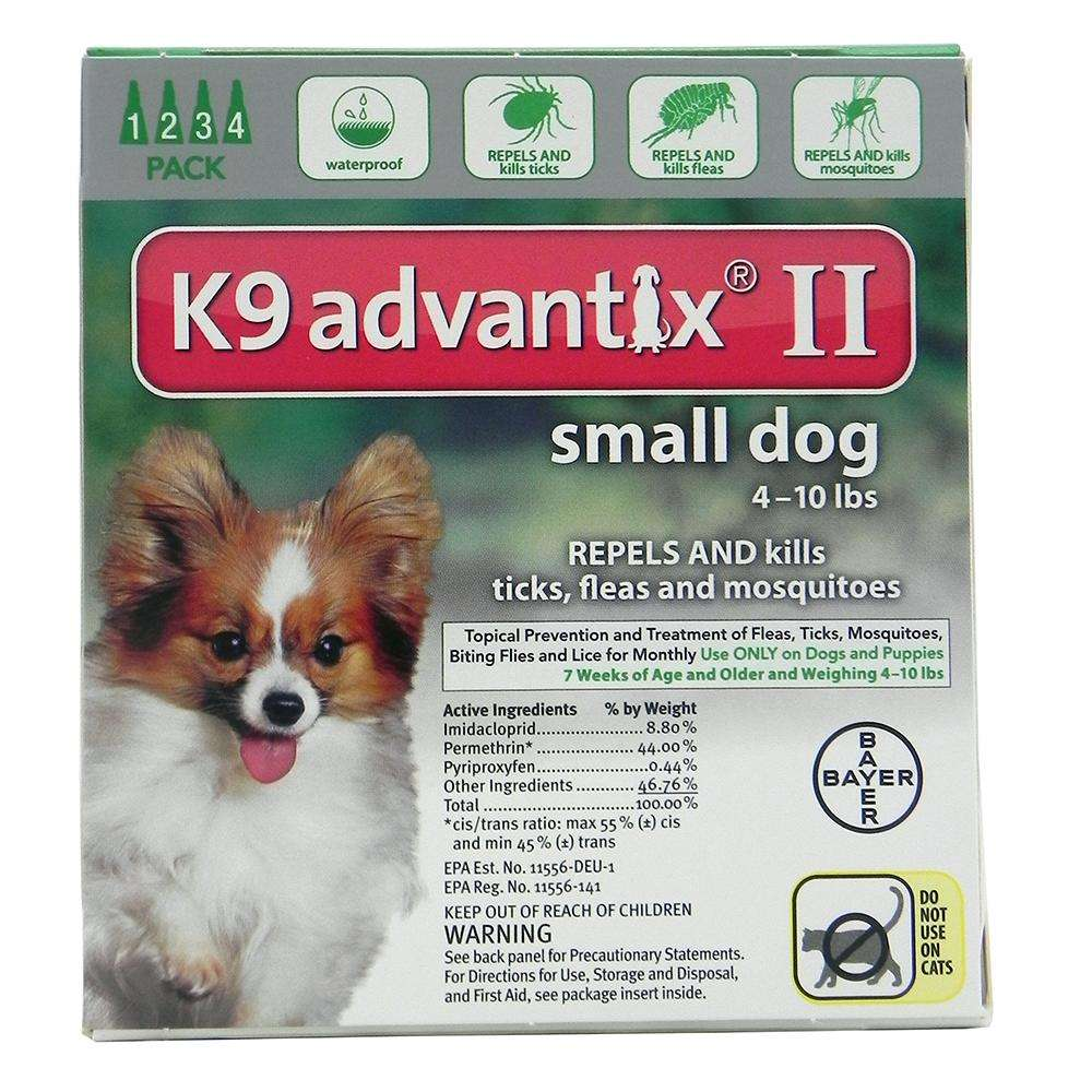 Bayer Advantix II Dog 1-10 lb 4 pack