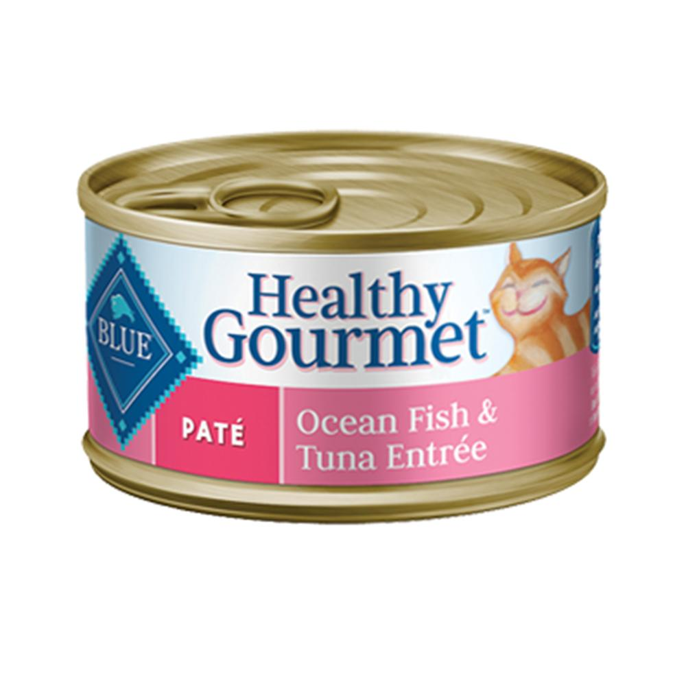 Blue Cat Ocean Fish/Tuna Pate Canned Cat Food 5.5-oz. Each
