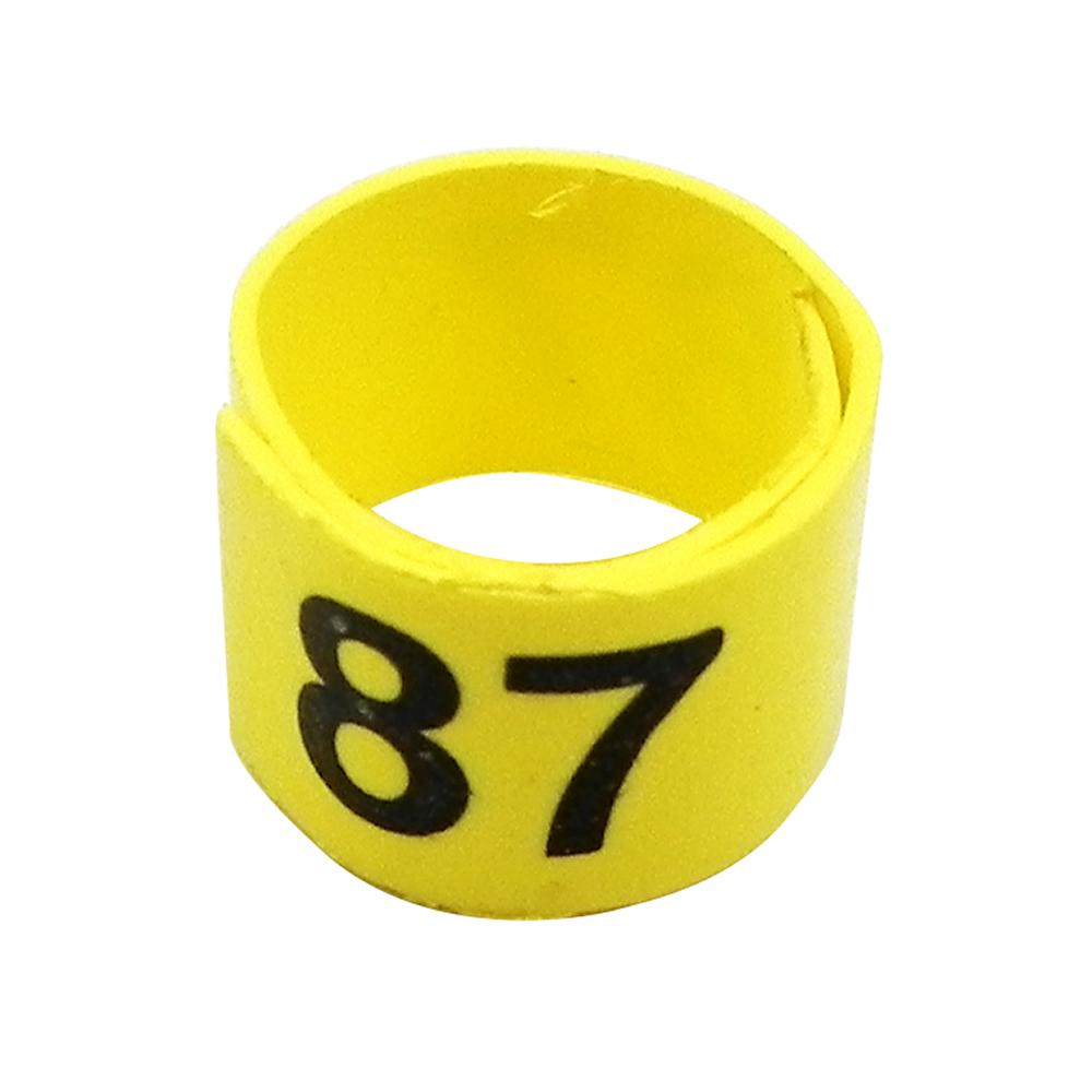 Poultry Numbered Leg Bandette Yellow size 7 (single band)