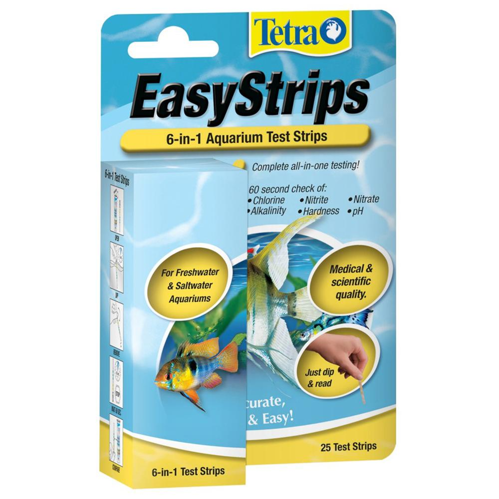 Tetra 6 in 1 Easy Aquarium Test Strips 25ct