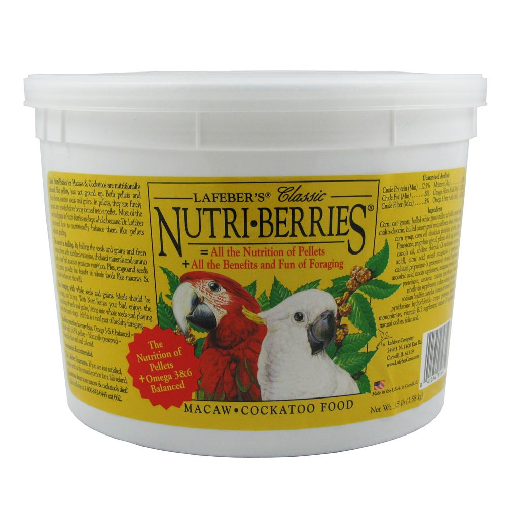 Lafeber NutriBerries Macaw 3.5 pound Food