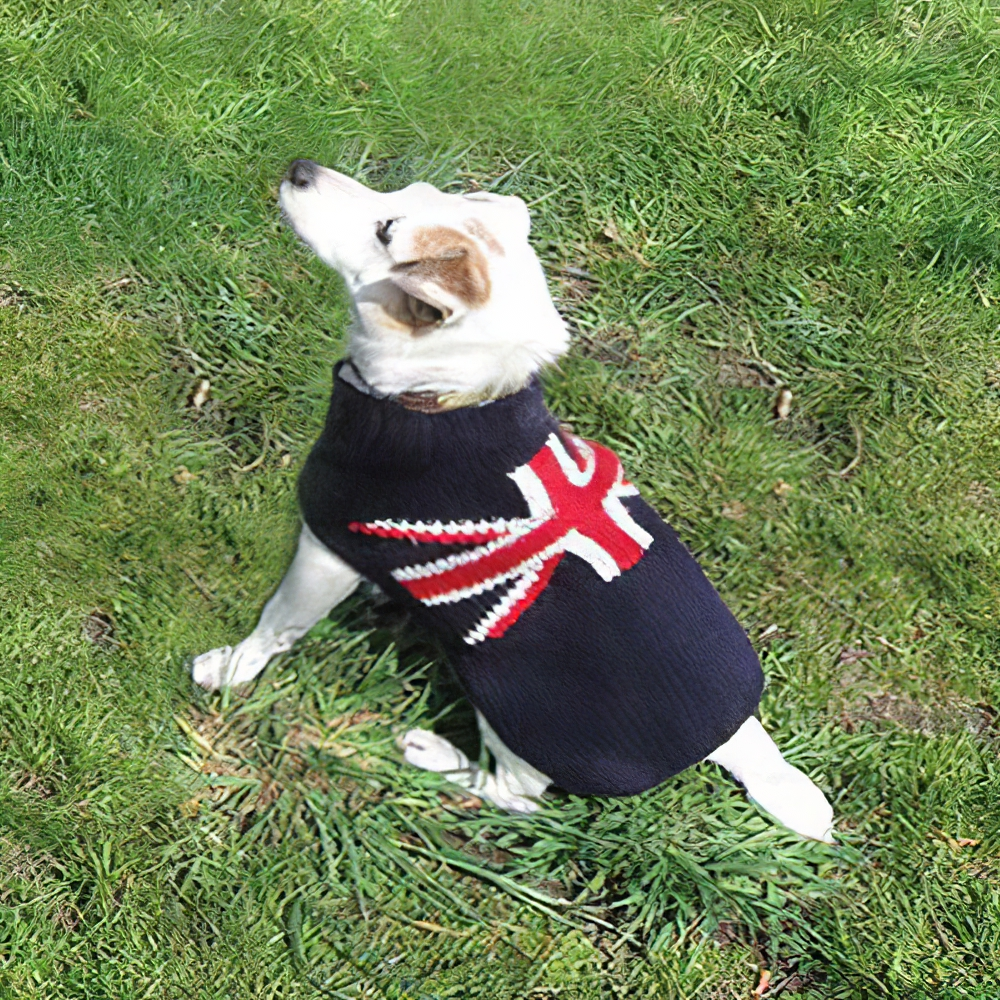 Handmade Dog Sweater Union Jack XSmall