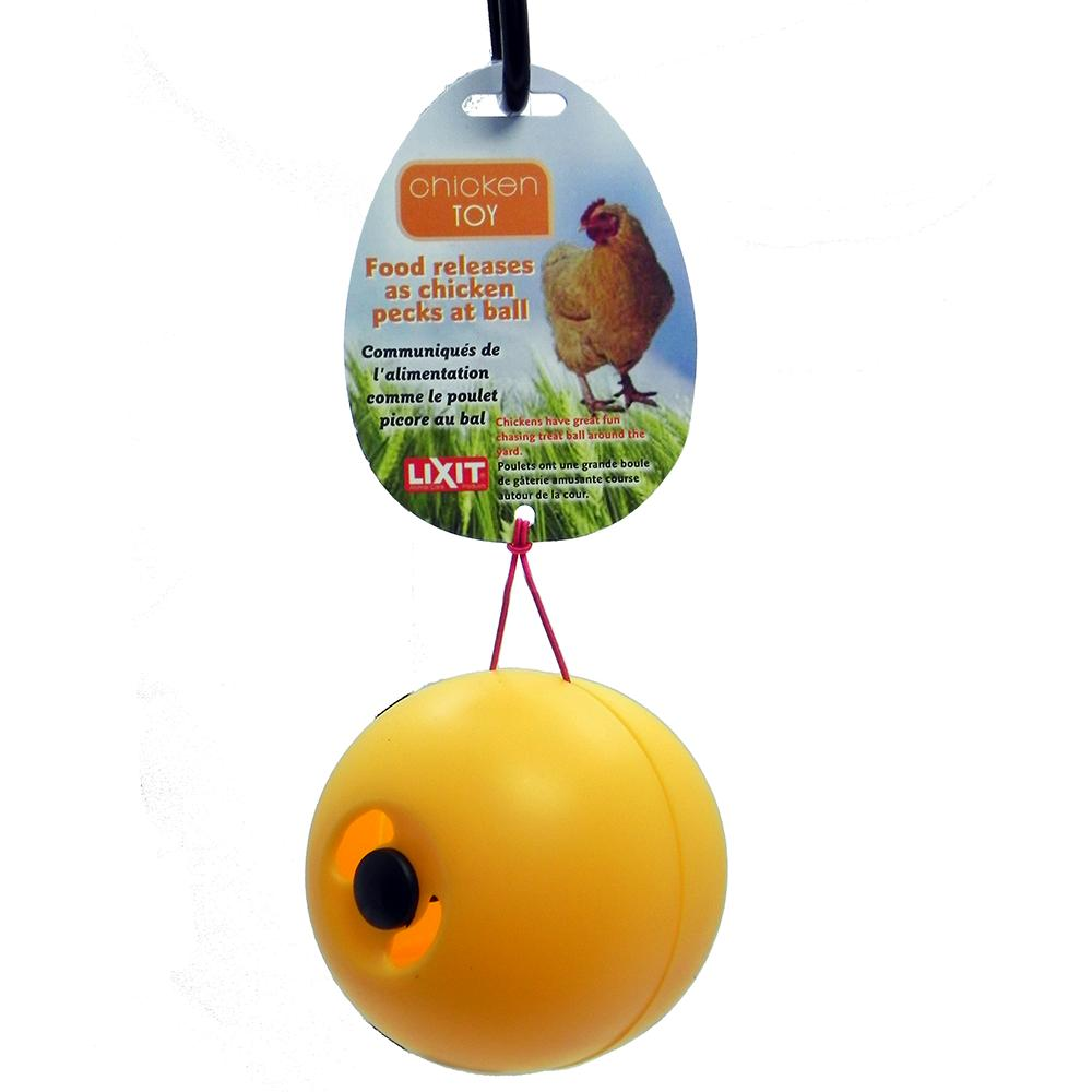 Lixit Chicken Fun Toy Treat Dispensing Ball