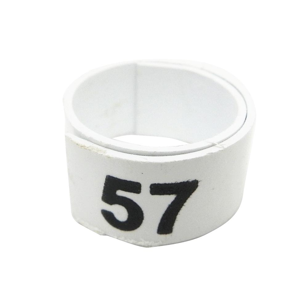 Poultry Numbered Leg Bandette White Size 11 (single Band)