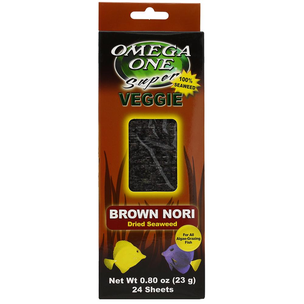 Omega One Super Veggie Brown Seaweed Fish Food 24 ct.