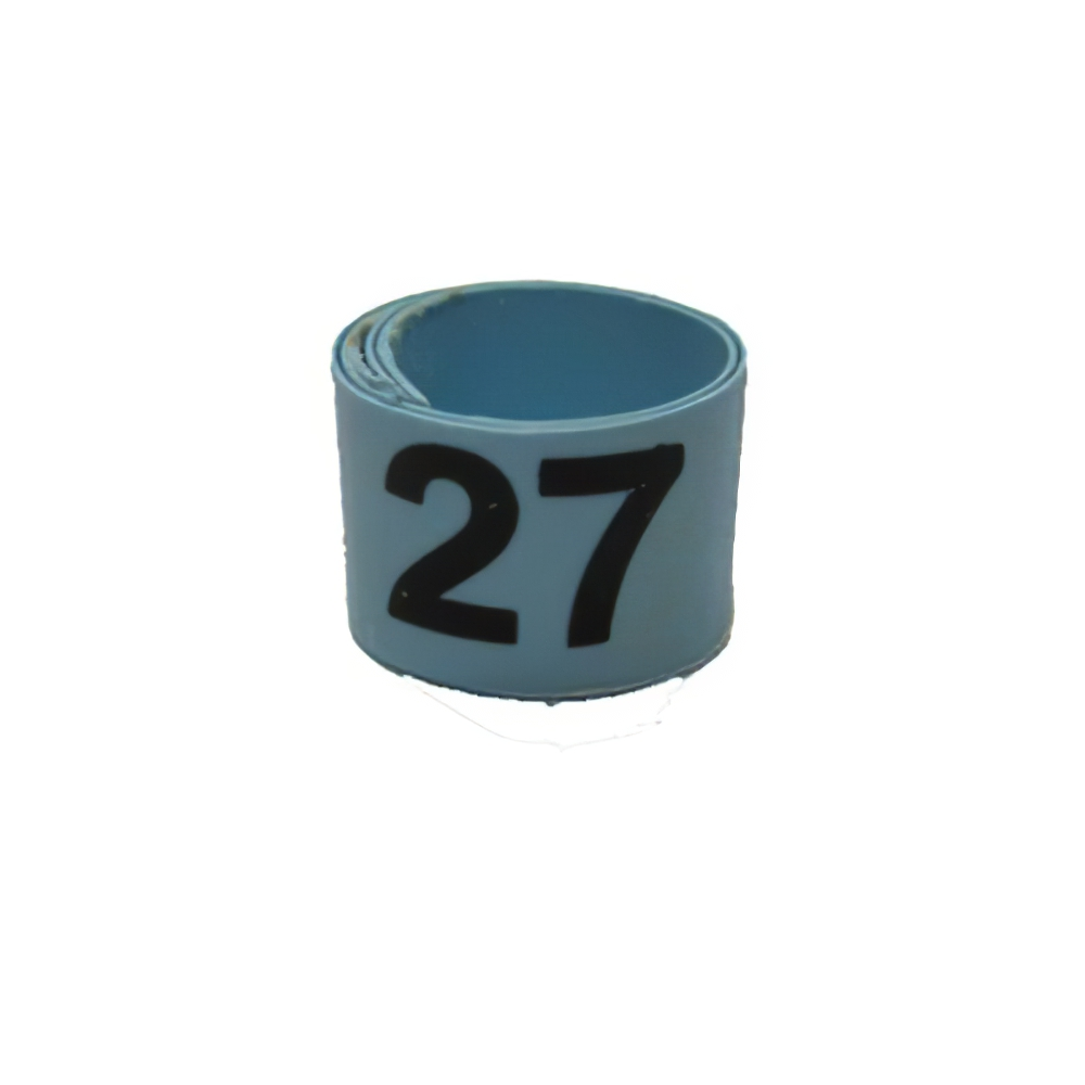 Poultry Numbered Leg Bandette Blue Size 7 (single band)