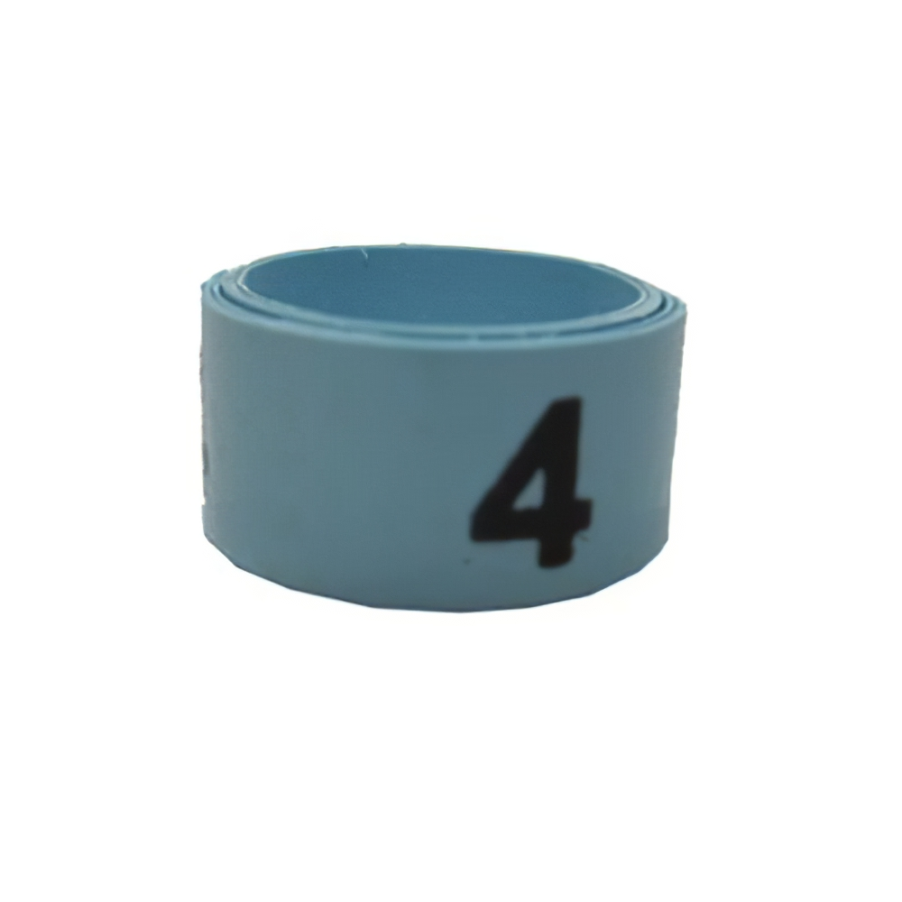 Poultry Numbered Leg Bandette Blue Size 11 (single band)