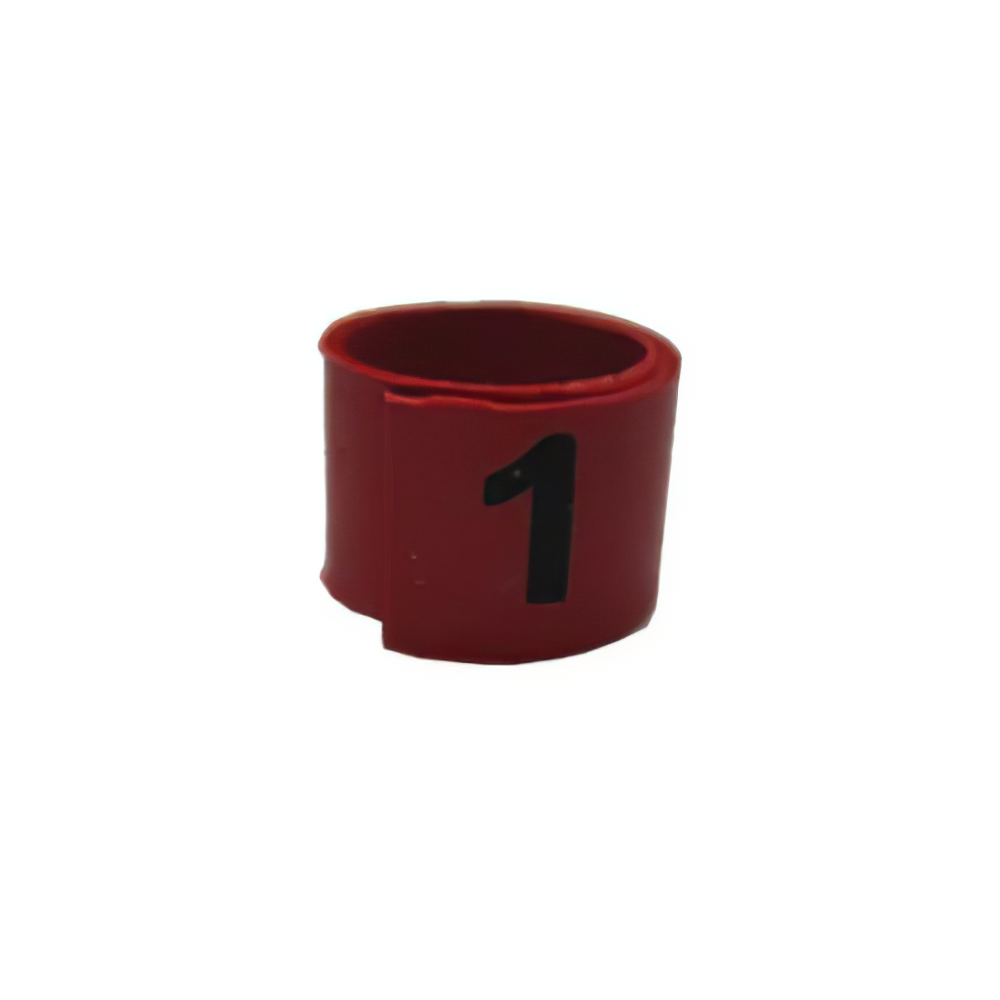Poultry Numbered Leg Bandette Red Size 7 (single Band)
