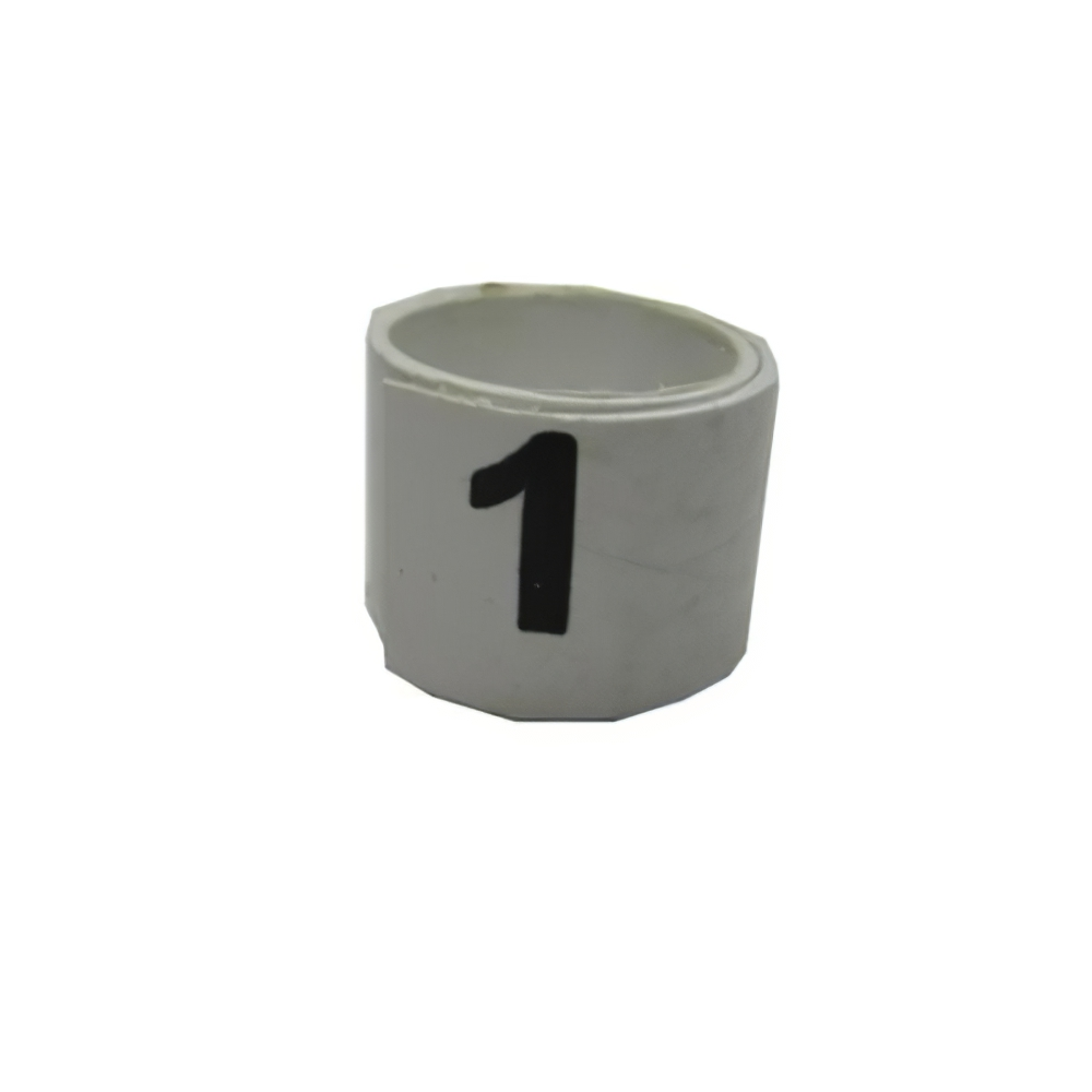 Poultry Numbered Leg Bandette White Size 7 (single Band)