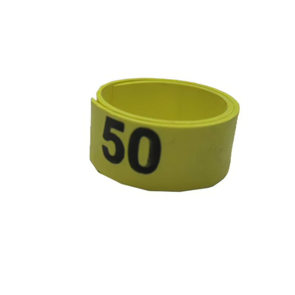 Poultry Numbered Leg Bandette Yellow Size 12 (single Band)