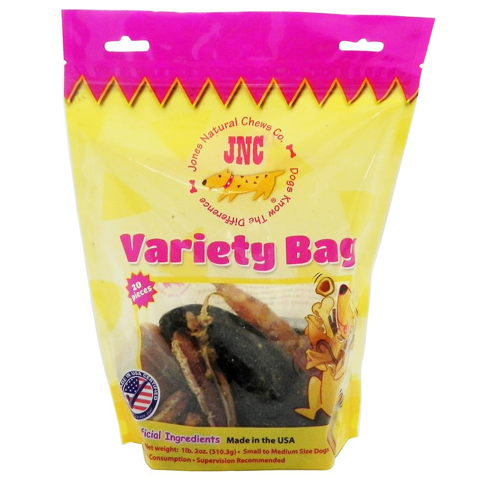 Jones Natural Chews 20 count Variety Bag Dog Treats