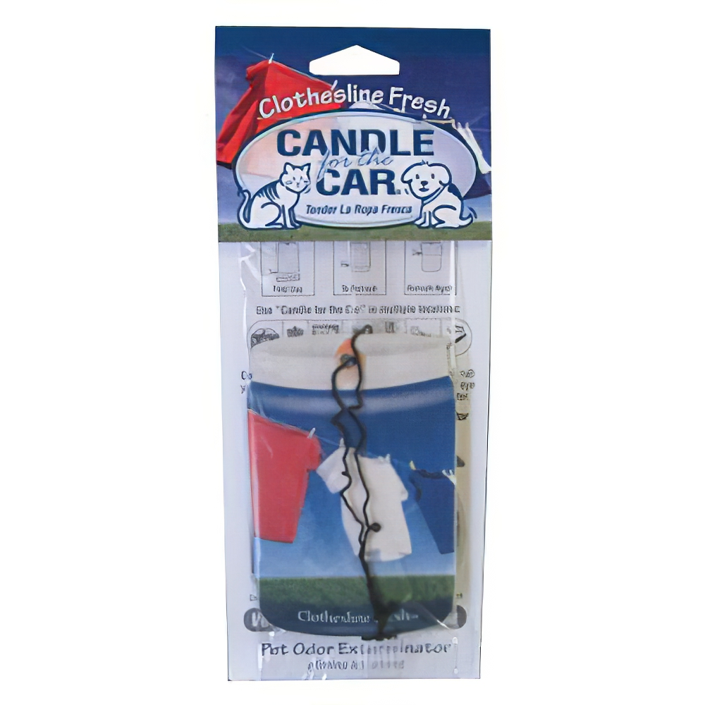 Candle For the Car Clotheline Fresh Pet Odor Eliminator