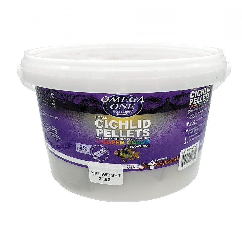 Omega One Small Floating Cichlid Pellets Fish Food 2-Lbs.