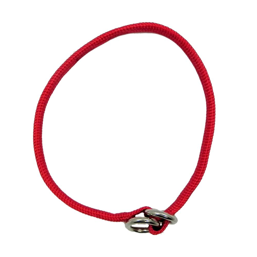 Nylon Dog Choke Red Collar 18in