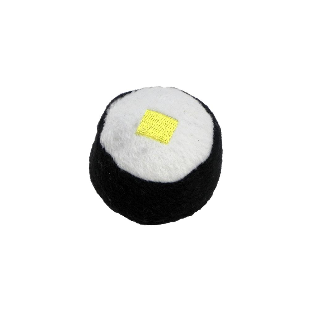 Sushi Egg Roll Yellow Catnip Cat Toy