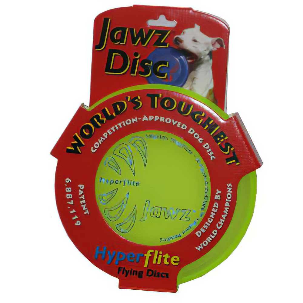 Hyperflite Jawz Lemon-Lime Competition Dog Sport Disc