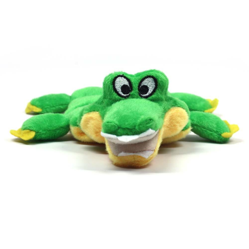 Kyjen Plush Puppies Mini Squeaker Gator Soft Dog Toy