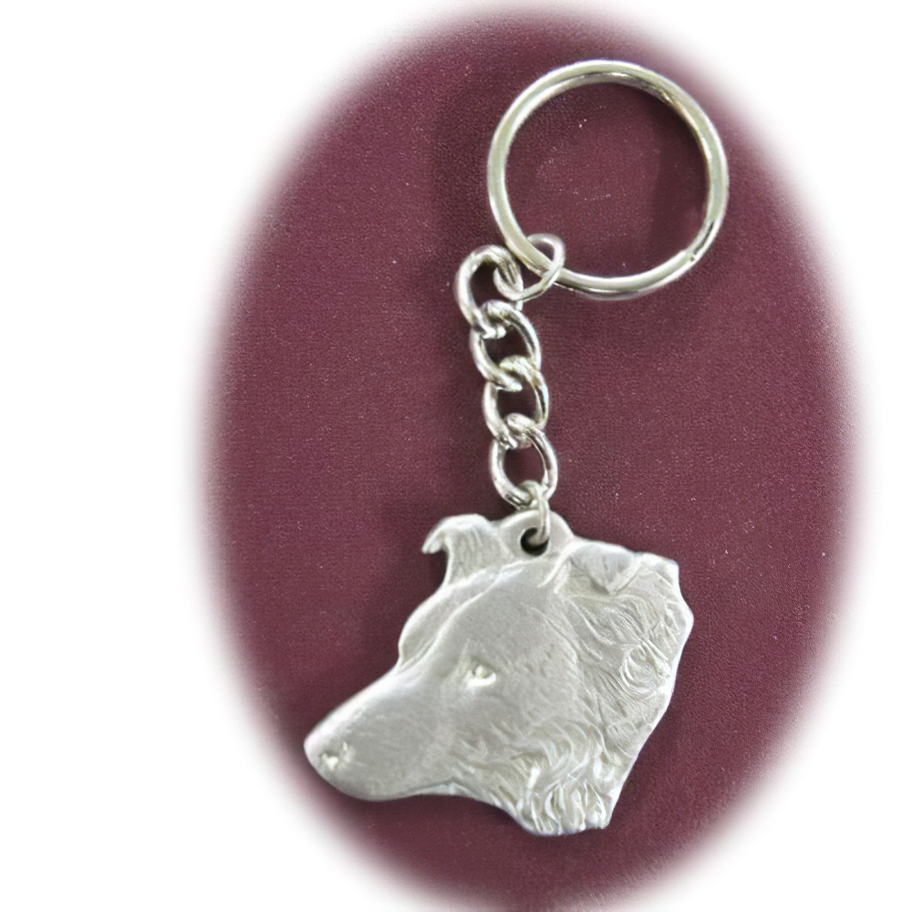 Pewter Key Chain I Love My Border Collie