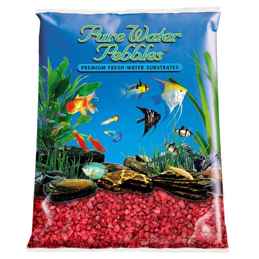 Pure Water Pebbles Currant Red Freshwater Gravel 5-Lb.